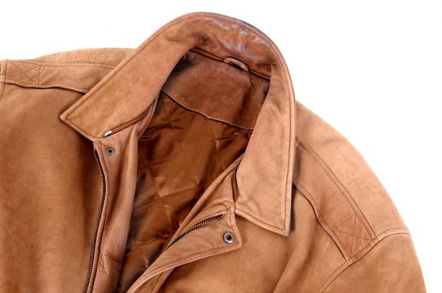 Classic leather jacket  Free Photo