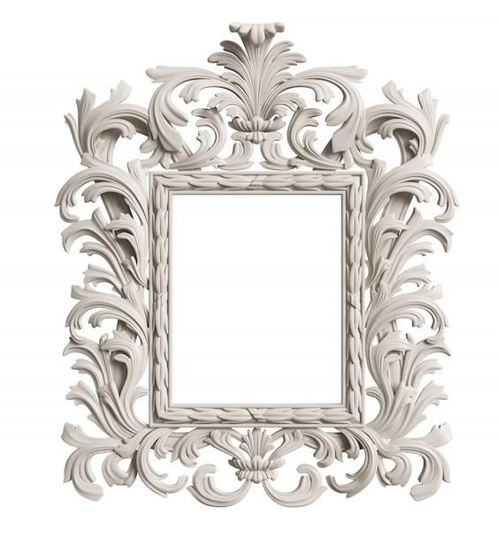 Classic mirror frame. 3d rendering Premium Photo