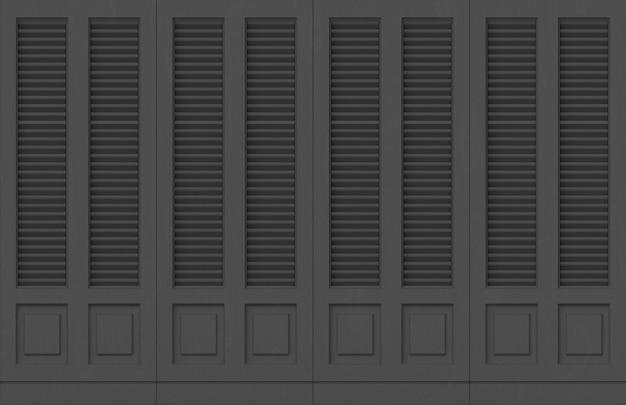 Classic Modern Dark Wood Door Panels Wall Background Premium Photo