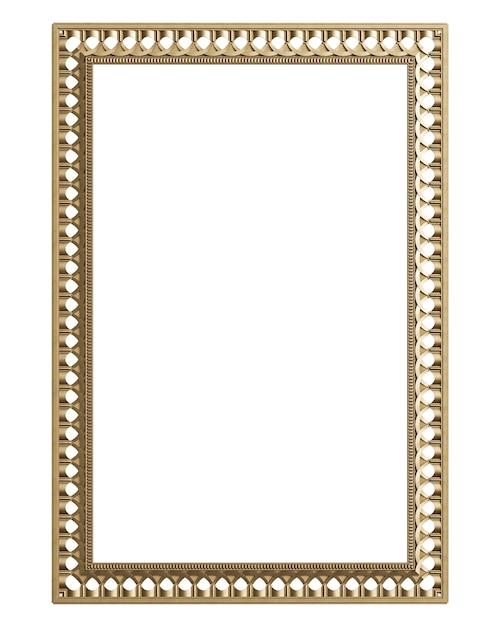 Classic moulding frame with ornament decor for classic interior isolated Premium Photo