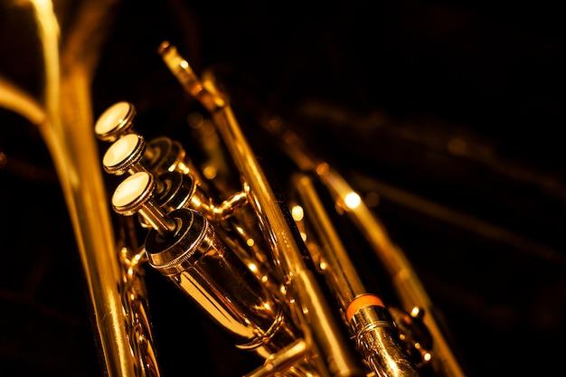 Classic musical cornet Premium Photo