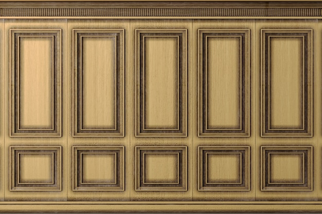 Classic wall vintage oak wood panels Premium Photo
