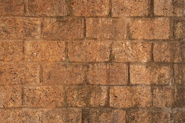 Clay brick wall Free Photo