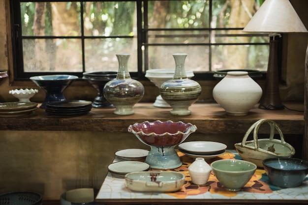 Clay pottery ceramics Premium Photo