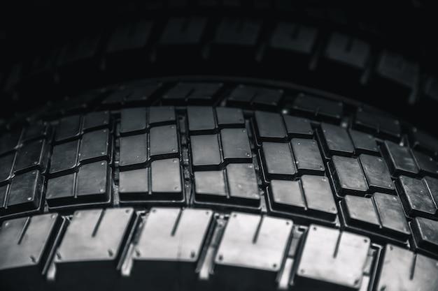 Clean truck tire, черный новый блестящий фон автомобильных шин Premium Фотографии