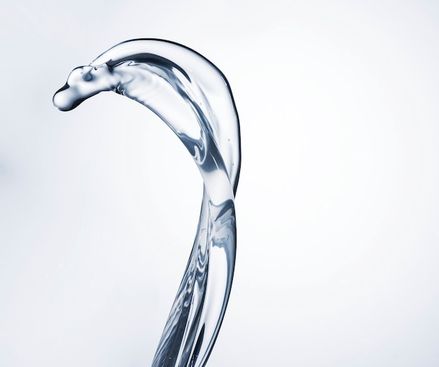 Chiara forma dell'acqua sul primo piano bianco del fondo cl Foto Gratuite