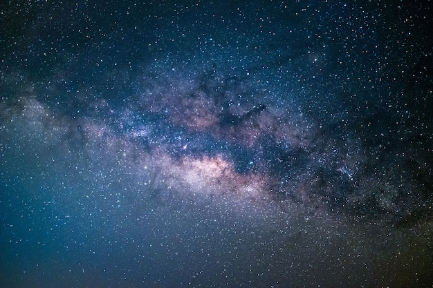 Clearly milky way, beautiful summer night sky with stars