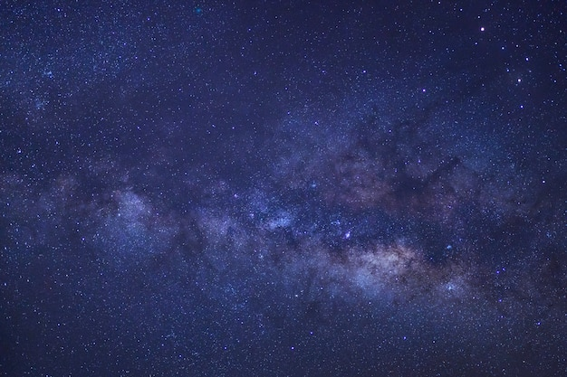 Clearly milky way galaxy with stars and space dust in the universe Premium Photo