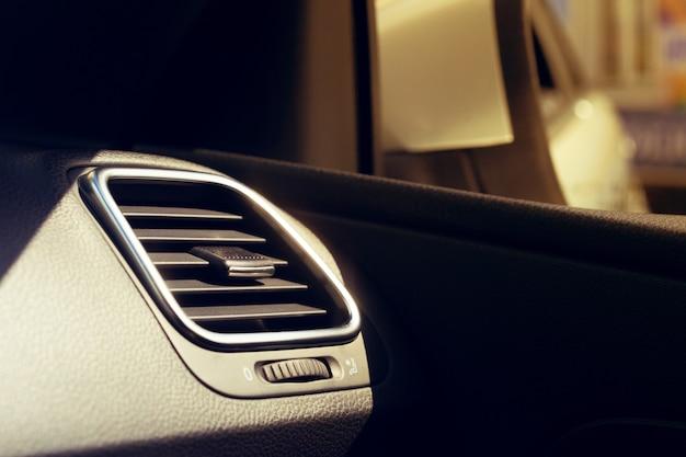 Climate control unit in the new car Premium Photo