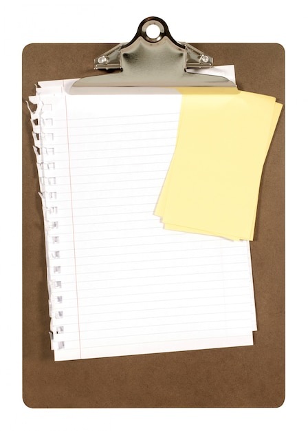 Clipboard with notepaper Free Photo