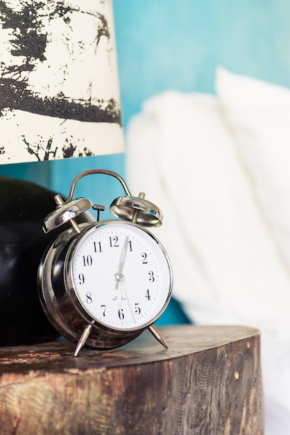 Clock in bedroom Free Photo