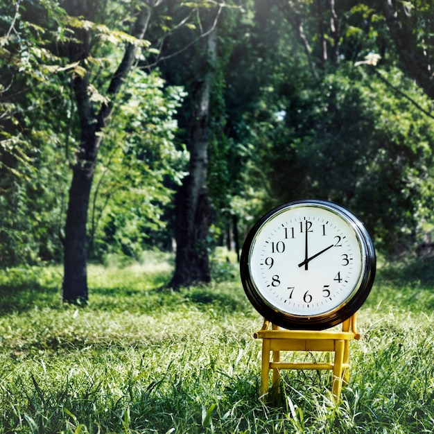 Clock instrument of time appointment management concept Premium Photo