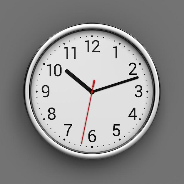 Clock on wall Premium Photo