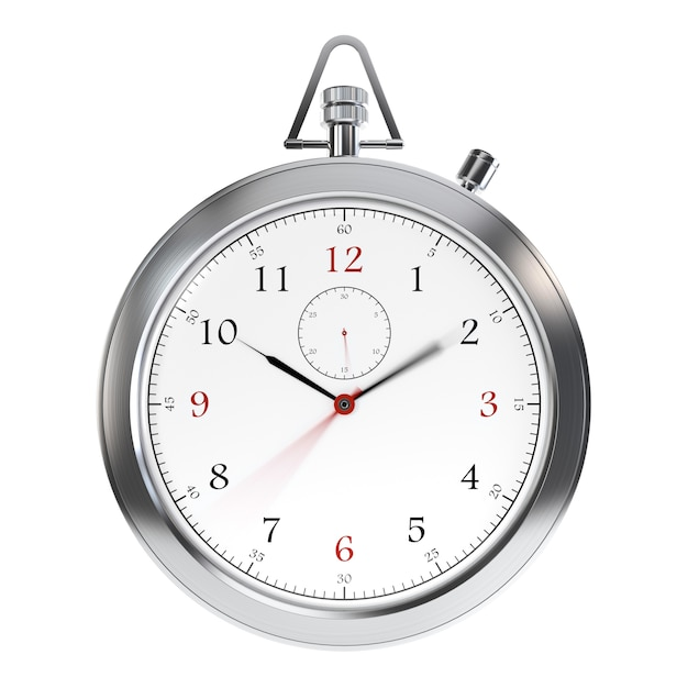 Clock on white Premium Photo