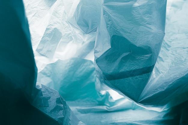 クローズアップの抽象的なビニール袋のコンセプト Premium写真