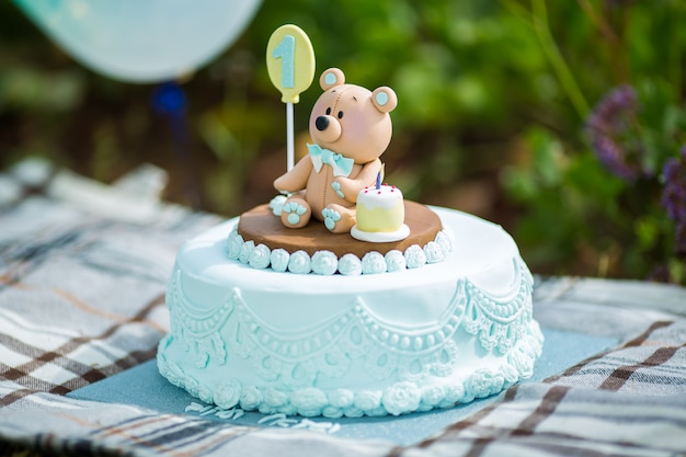 Fine Close Up Amazing Cake For Boys First Birthday Blue And White Personalised Birthday Cards Arneslily Jamesorg