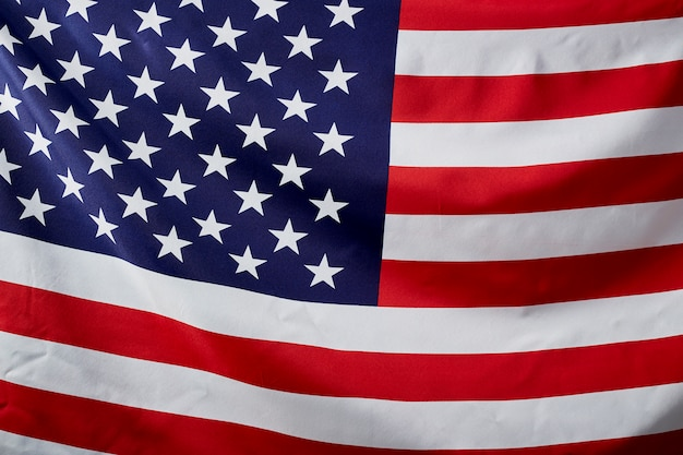 Close up american flag wave Premium Photo