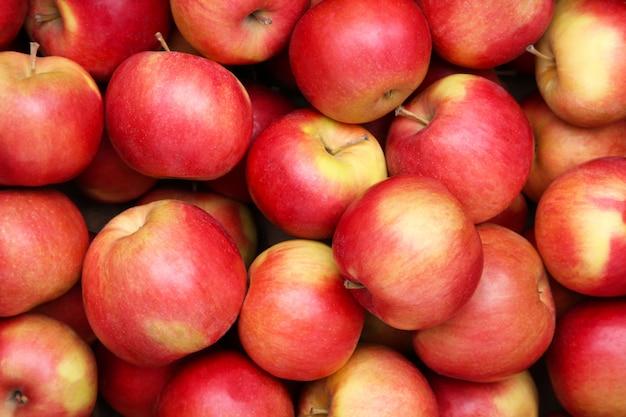 Close-up apple, red apple fruit. Premium Photo