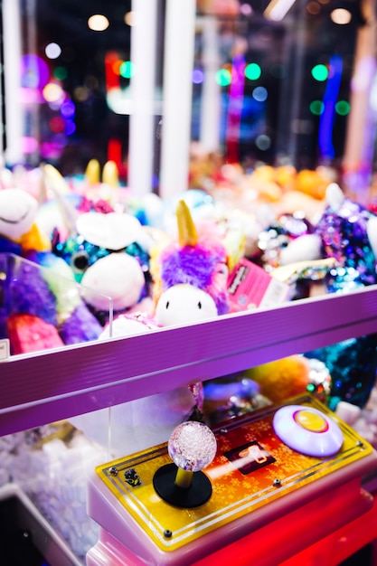 Close-up arcade machine controls Free Photo