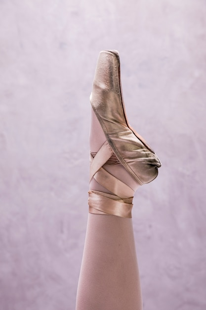 Close up ballerina pointe shoe Free Photo