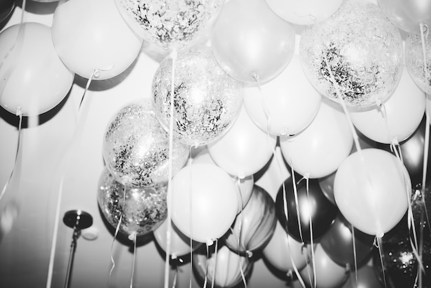 Close up of balloons at a party Free Photo