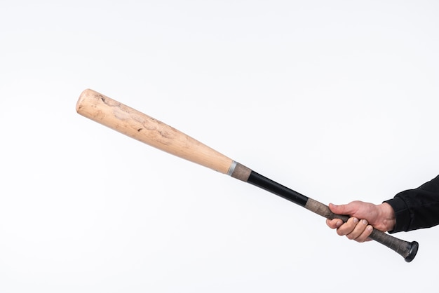 Close-up of baseball bat with copy space Free Photo