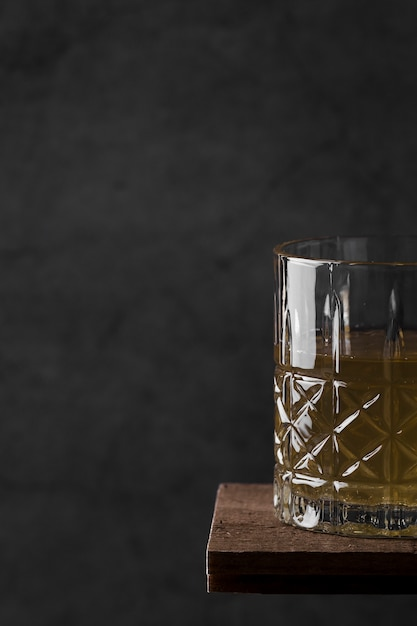 Close-up beverage on wooden table Free Photo