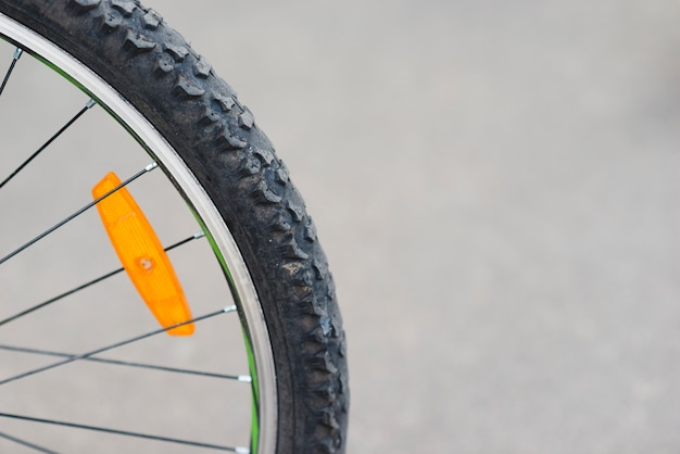 Close-up of bicycle back wheel Free Photo