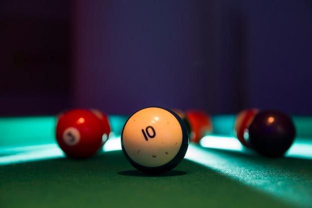 Close-up of billiard balls Free Photo