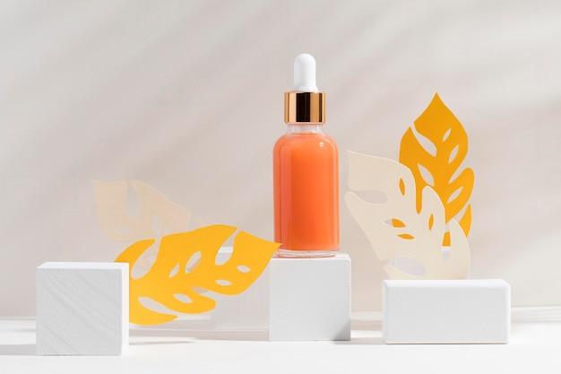 Close-up body butter bottle Premium Photo