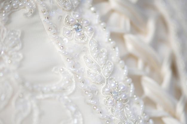 Close-up bridel wedding dress Premium Photo