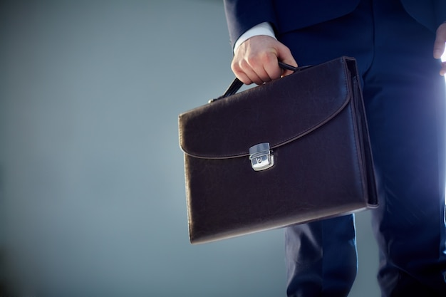 Close-up of a briefcase Free Photo