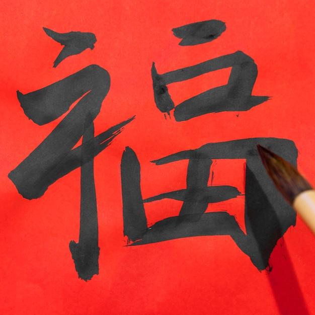 クローズアップ筆絵日本のシンボル 無料写真