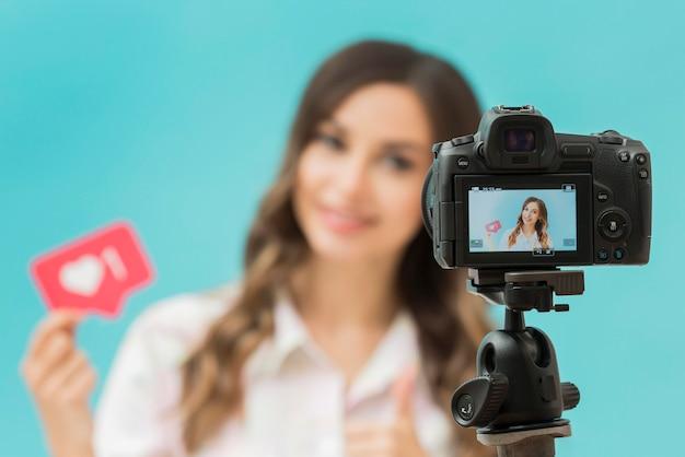Макро камера на штативе записи блоггера Бесплатные Фотографии