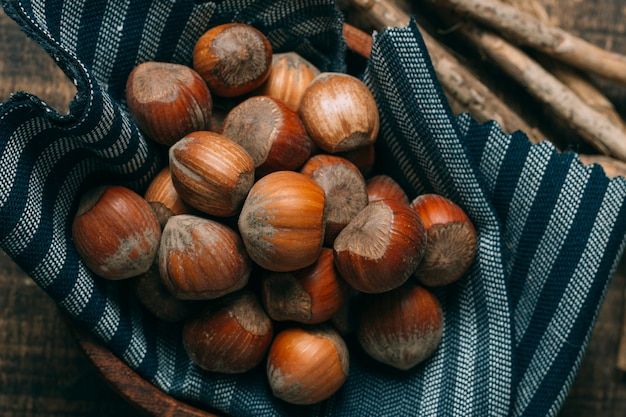 Close-up chestnuts in a bowl Free Photo
