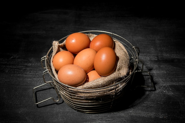 クローズアップの鶏の卵 無料写真