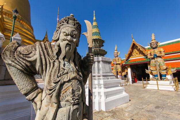 Close up chinese doll at wat phra kaew ancient temple in bangkok thailand Premium Photo