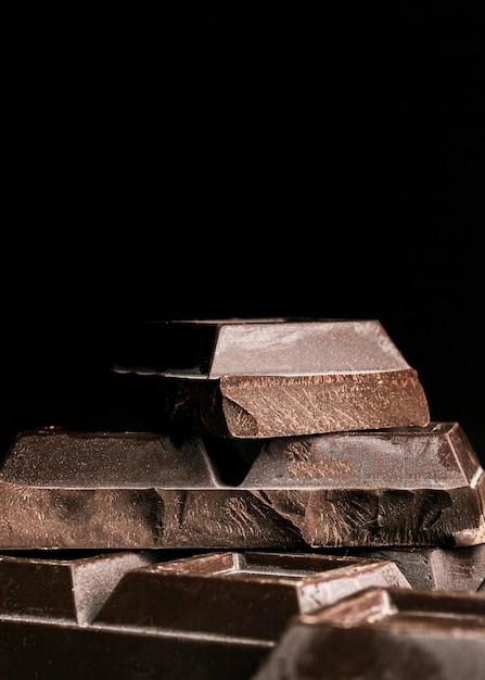 クローズアップチョコレートバーの正方形 無料写真