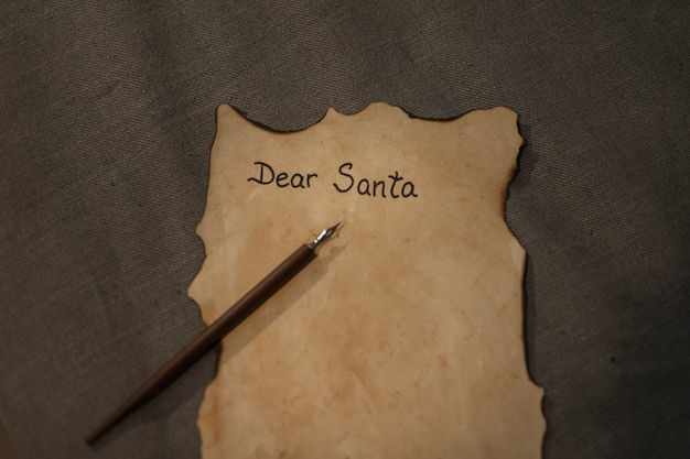 Close-up christmas letter with mock-up Free Photo