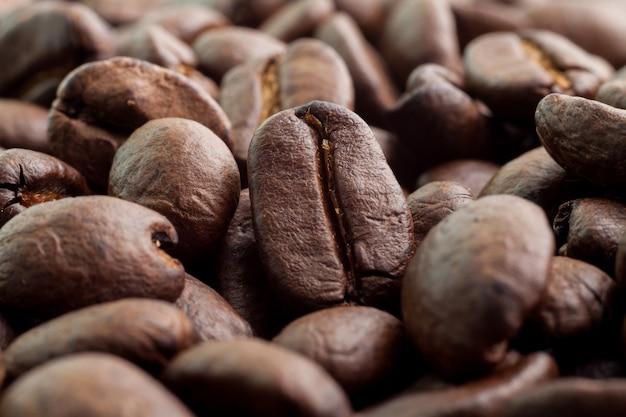Close up coffee bean background Premium Photo