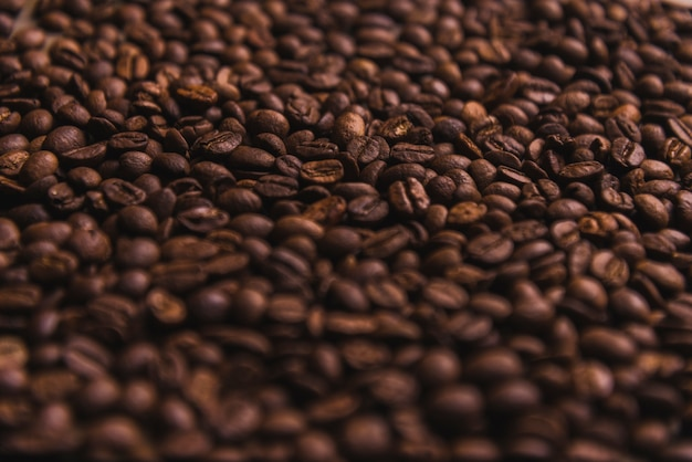 Close-up coffee beans Free Photo