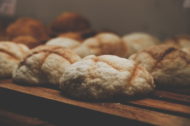 Close-up collection of bread buns Free Photo