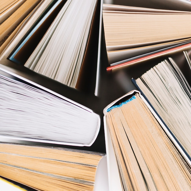 Close-up collection of books Free Photo