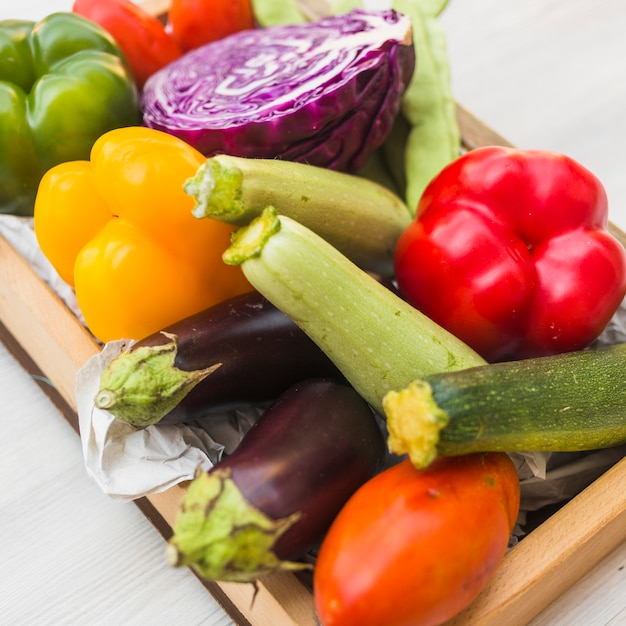 Close-up of colorful fresh vegetables Free Photo