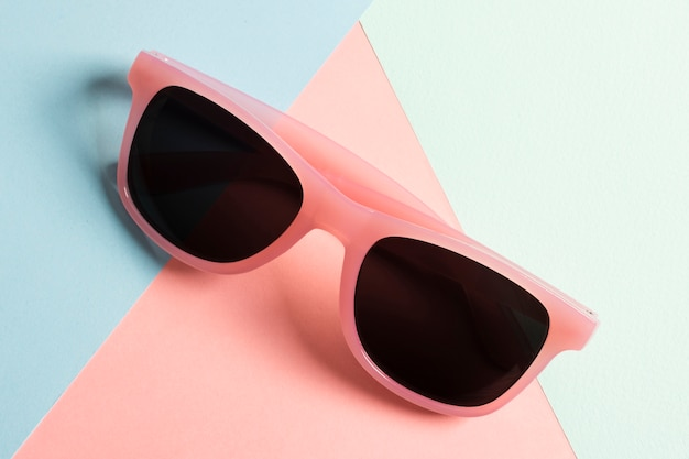 Close-up colorful plastic sunglasses Free Photo