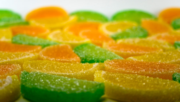 Close-up of colourful fruit candies Premium Photo