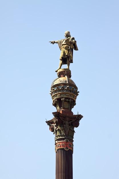Close up of  columbus monument Free Photo