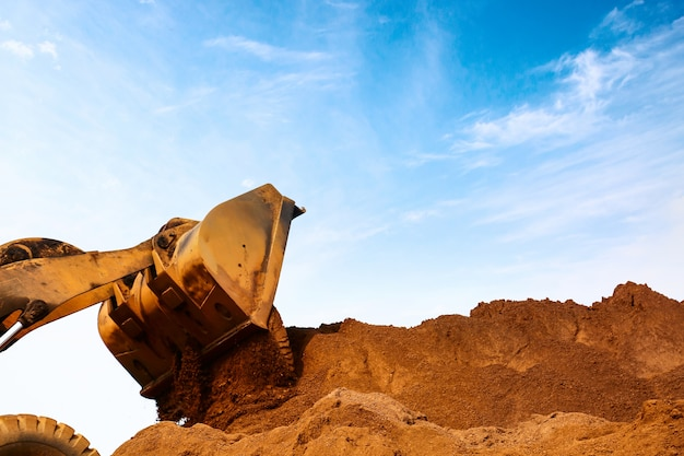 Close-up of a construction site excavator Free Photo