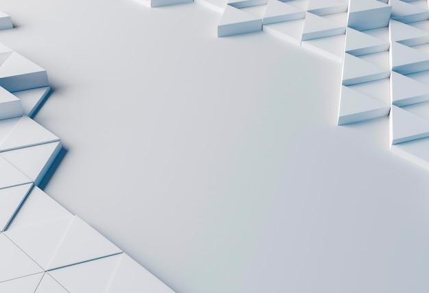 Close-up di sfondo creativo con forme bianche Foto Gratuite