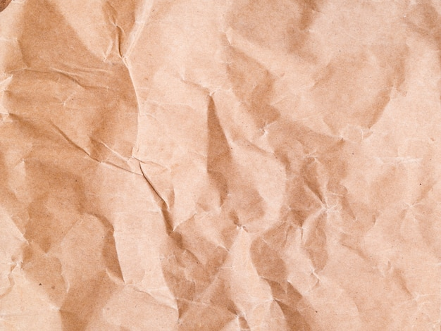 Close-up crumpled paper background Free Photo